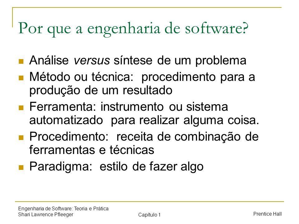 Por que a engenharia de software