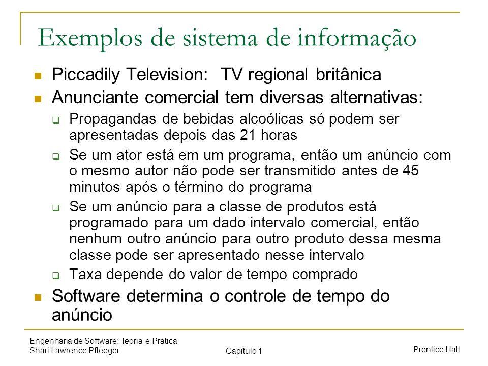 Exemplos de sistema de informação