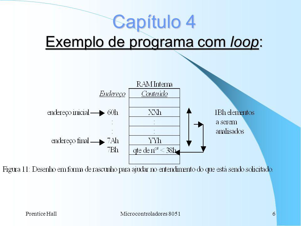 Capítulo 4 Exemplo de programa com loop: