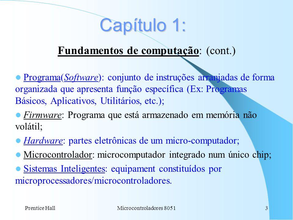 Fundamentos de computação: (cont.)