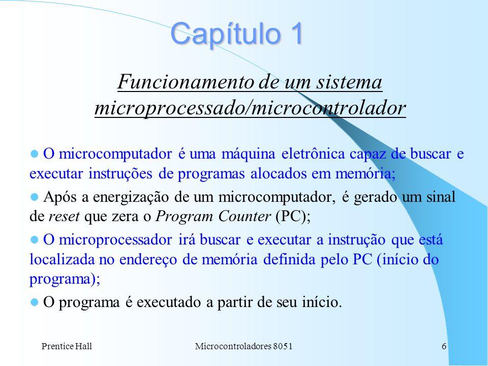 Funcionamento de um sistema microprocessado/microcontrolador