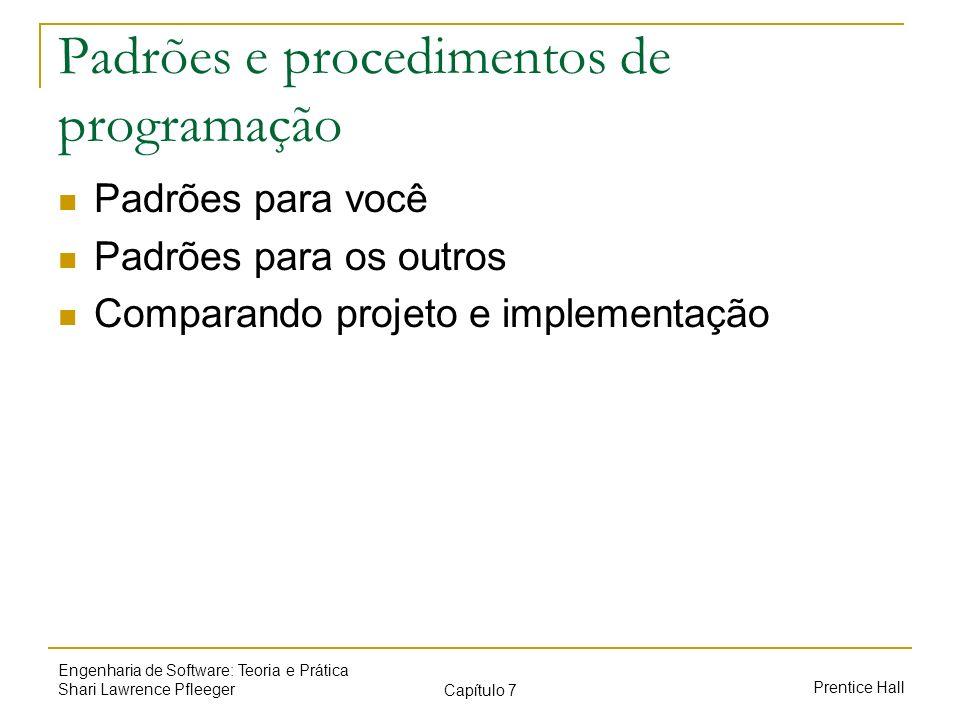 Padrões e procedimentos de programação