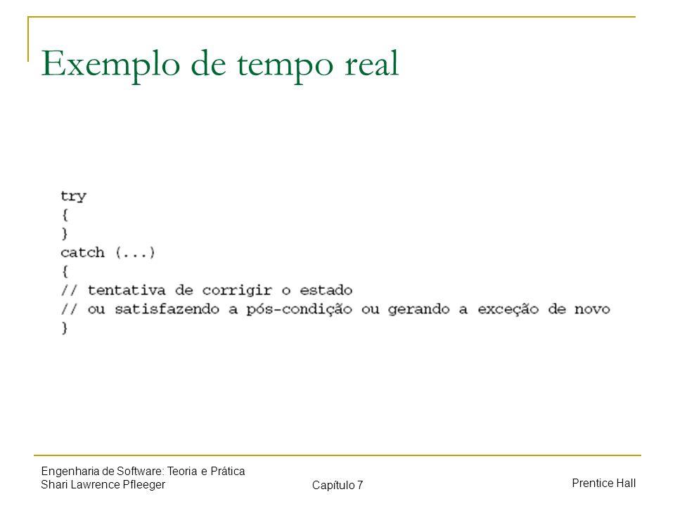 Exemplo de tempo real Engenharia de Software: Teoria e Prática