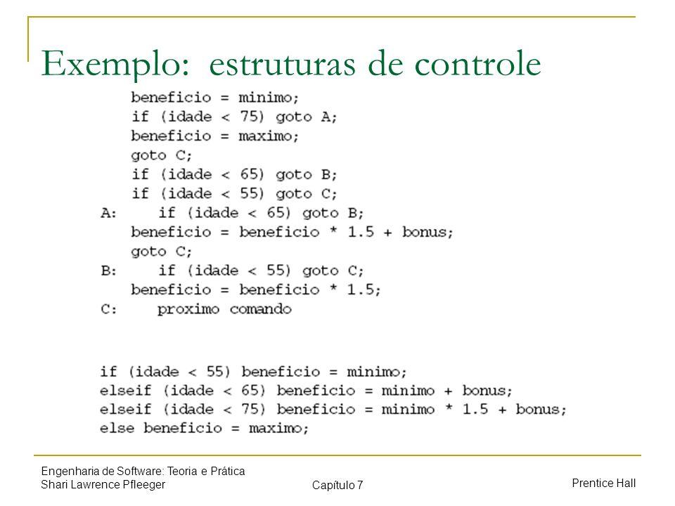 Exemplo: estruturas de controle