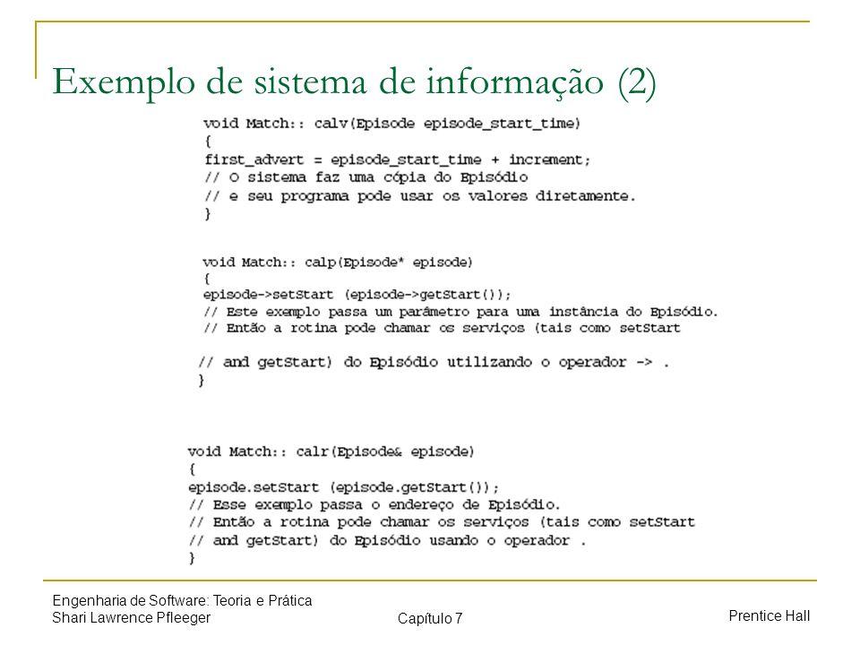 Exemplo de sistema de informação (2)