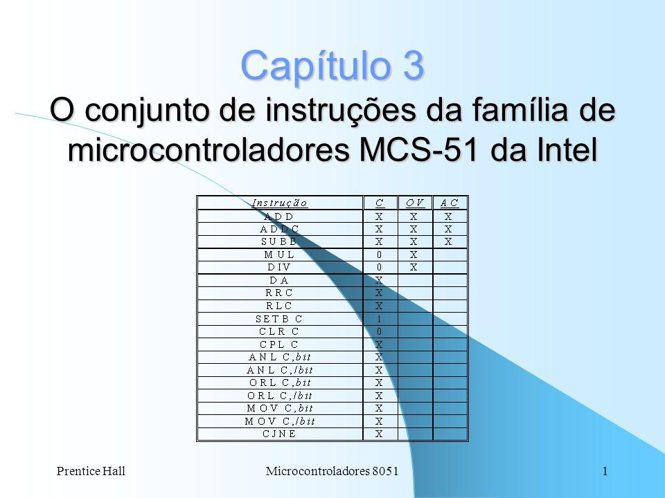 Capítulo 3 O conjunto de instruções da família de microcontroladores MCS-51 da Intel