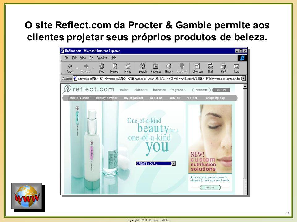 O site Reflect.com da Procter & Gamble permite aos clientes projetar seus próprios produtos de beleza.