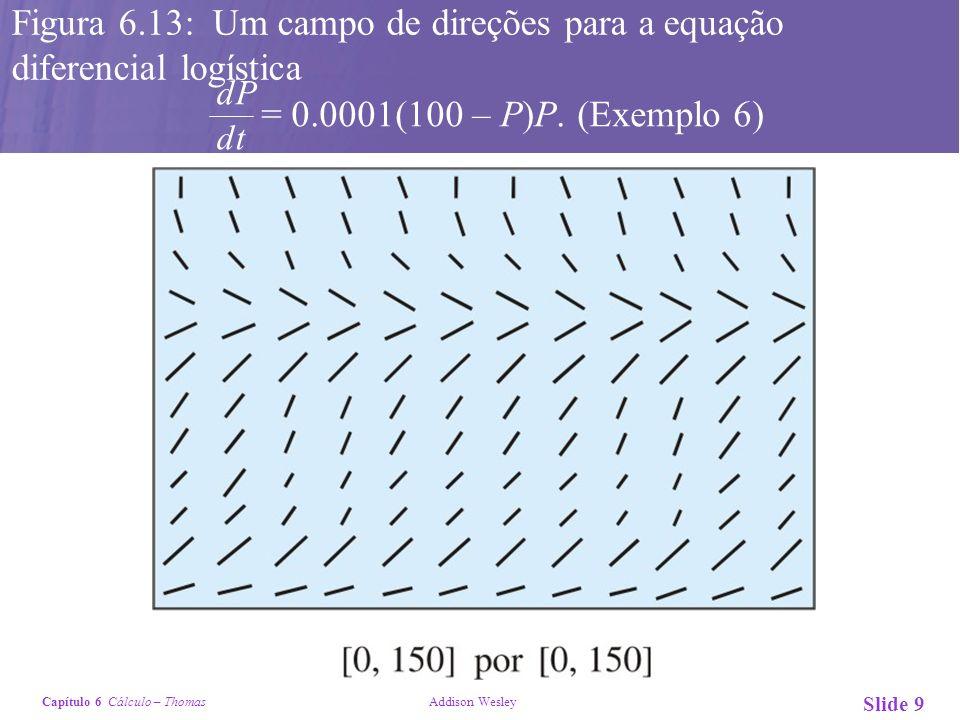 Figura 6.13: Um campo de direções para a equação diferencial logística