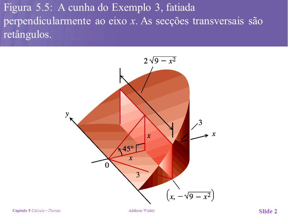 Figura 5.5: A cunha do Exemplo 3, fatiada perpendicularmente ao eixo x.