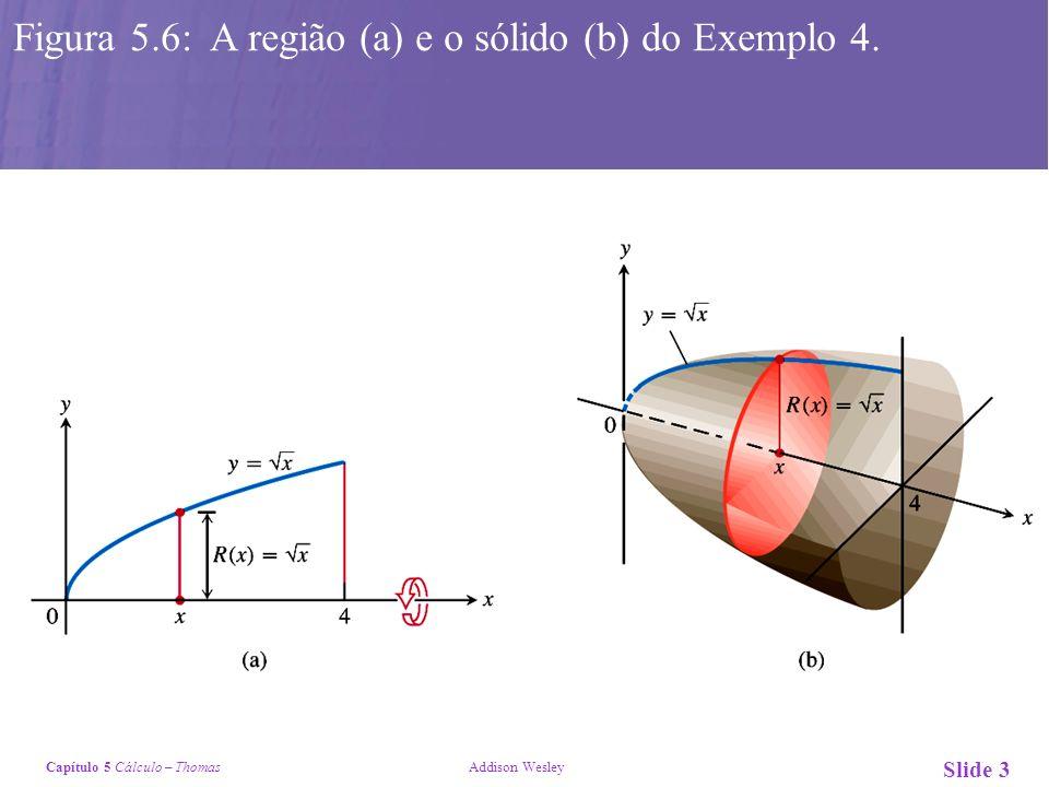 Figura 5.6: A região (a) e o sólido (b) do Exemplo 4.