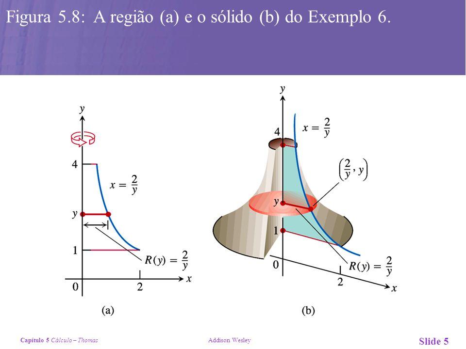 Figura 5.8: A região (a) e o sólido (b) do Exemplo 6.
