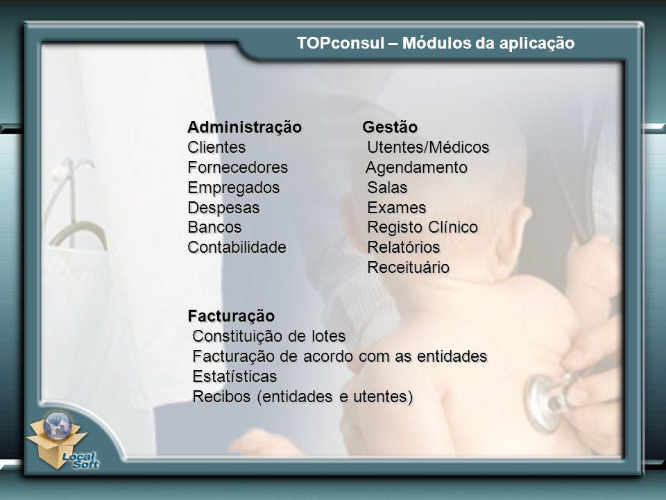 TOPconsul – Módulos da aplicação