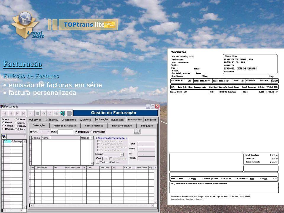 Facturação Emissão de Facturas emissão de facturas em série