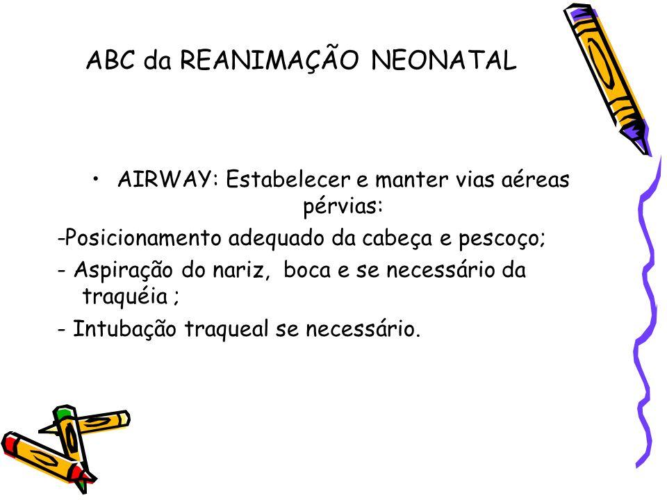 ABC da REANIMAÇÃO NEONATAL