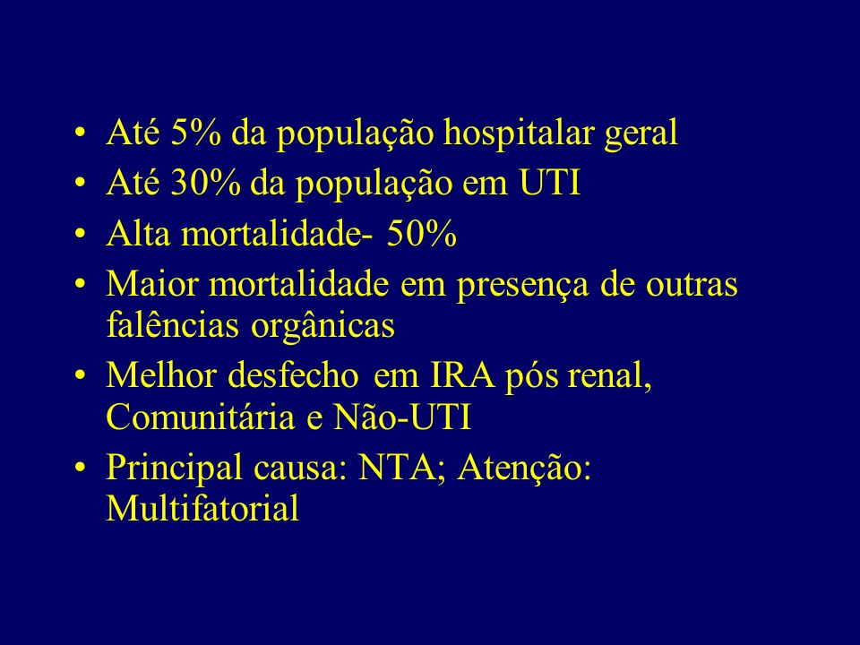 Até 5% da população hospitalar geral
