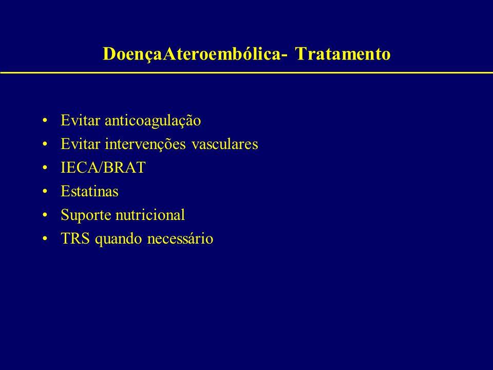 DoençaAteroembólica- Tratamento