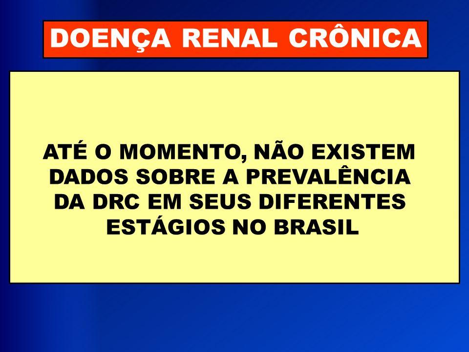 DOENÇA RENAL CRÔNICA ATÉ O MOMENTO, NÃO EXISTEM