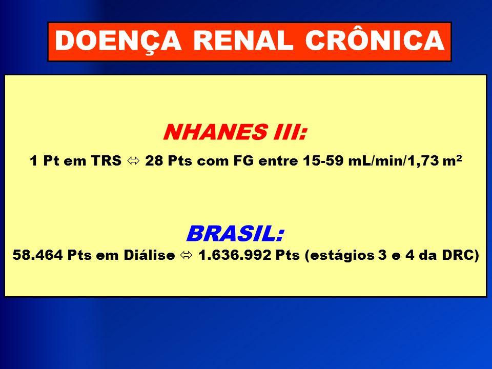DOENÇA RENAL CRÔNICA NHANES III:
