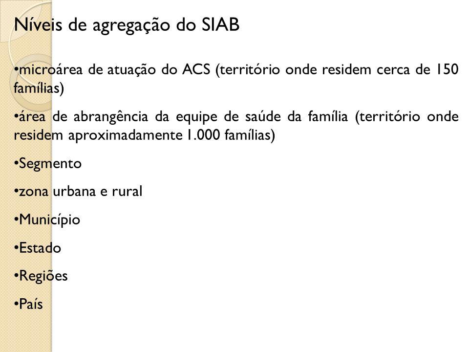 Níveis de agregação do SIAB