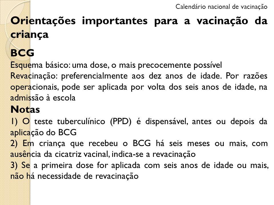 Orientações importantes para a vacinação da criança