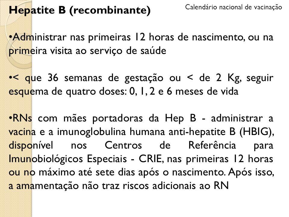 Hepatite B (recombinante)
