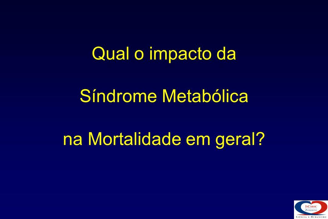 Qual o impacto da Síndrome Metabólica na Mortalidade em geral