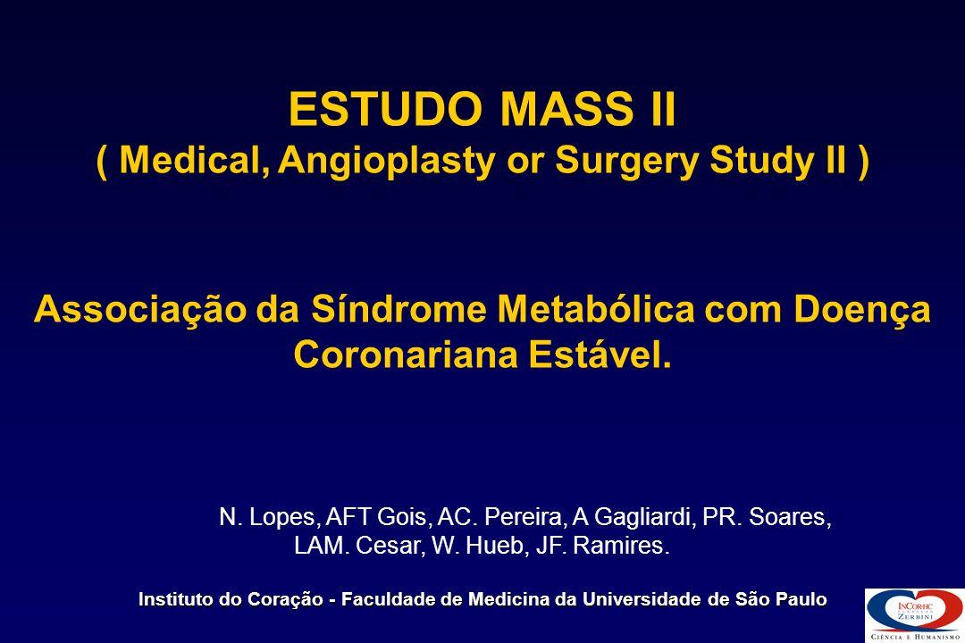 Associação da Síndrome Metabólica com Doença Coronariana Estável.