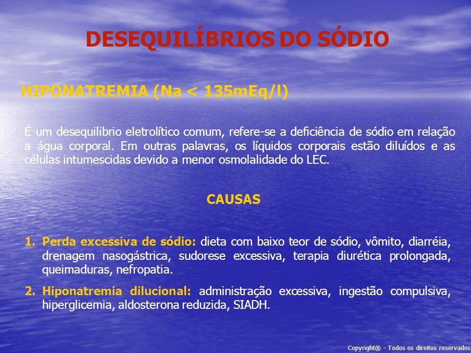DESEQUILÍBRIOS DO SÓDIO