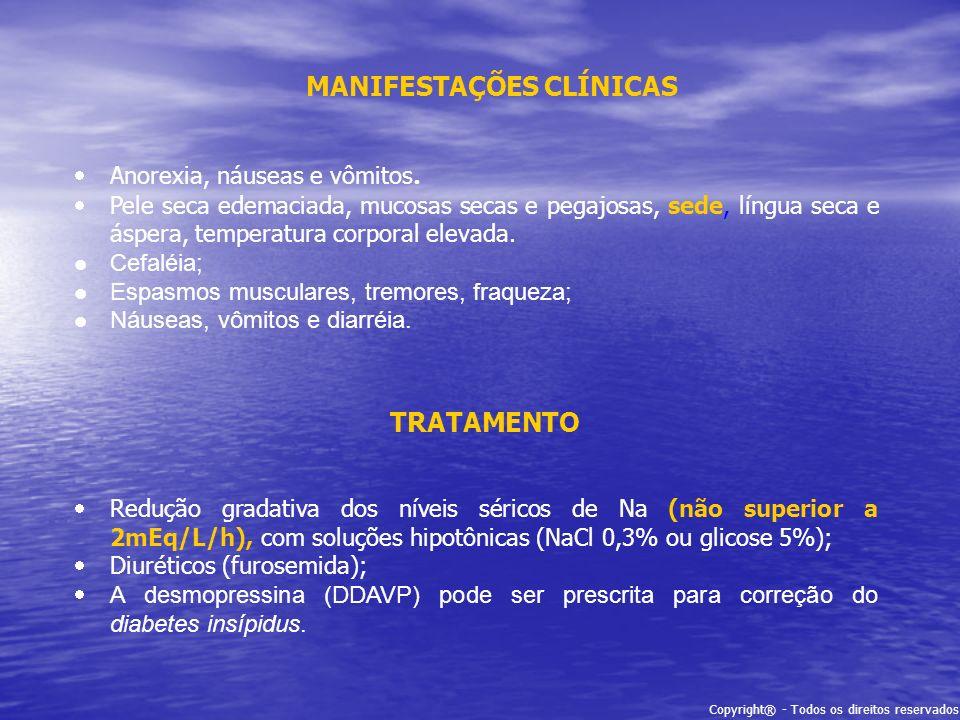 MANIFESTAÇÕES CLÍNICAS