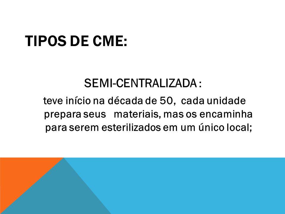 TIPOS DE CME: SEMI-CENTRALIZADA :