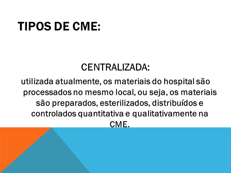 TIPOS DE CME: CENTRALIZADA: