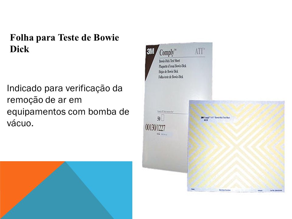 Folha para Teste de Bowie Dick