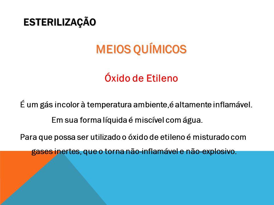 MEIOS QUÍMICOS ESTERILIZAÇÃO Óxido de Etileno