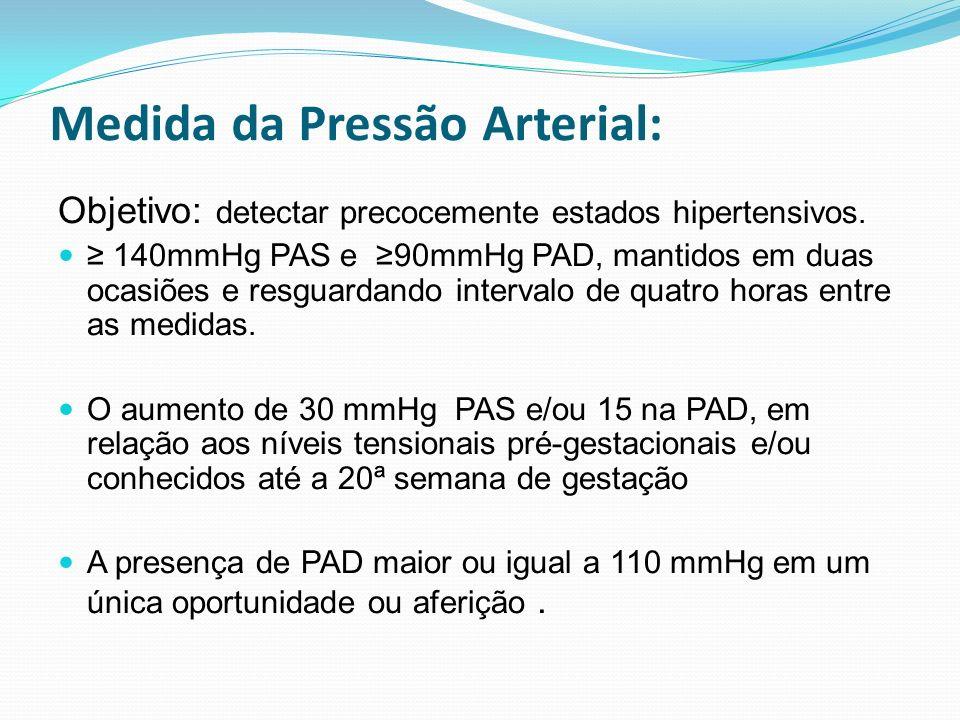 Medida da Pressão Arterial: