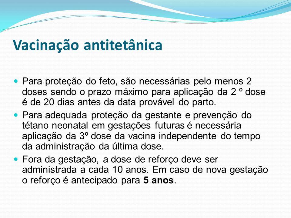 Vacinação antitetânica