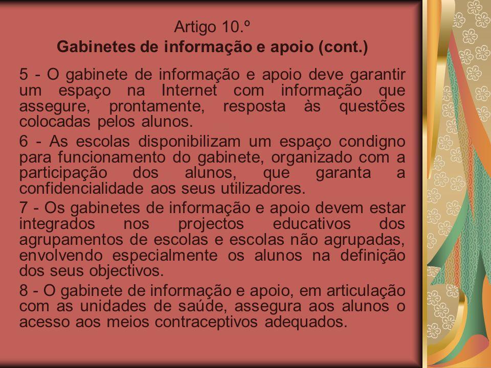 Gabinetes de informação e apoio (cont.)