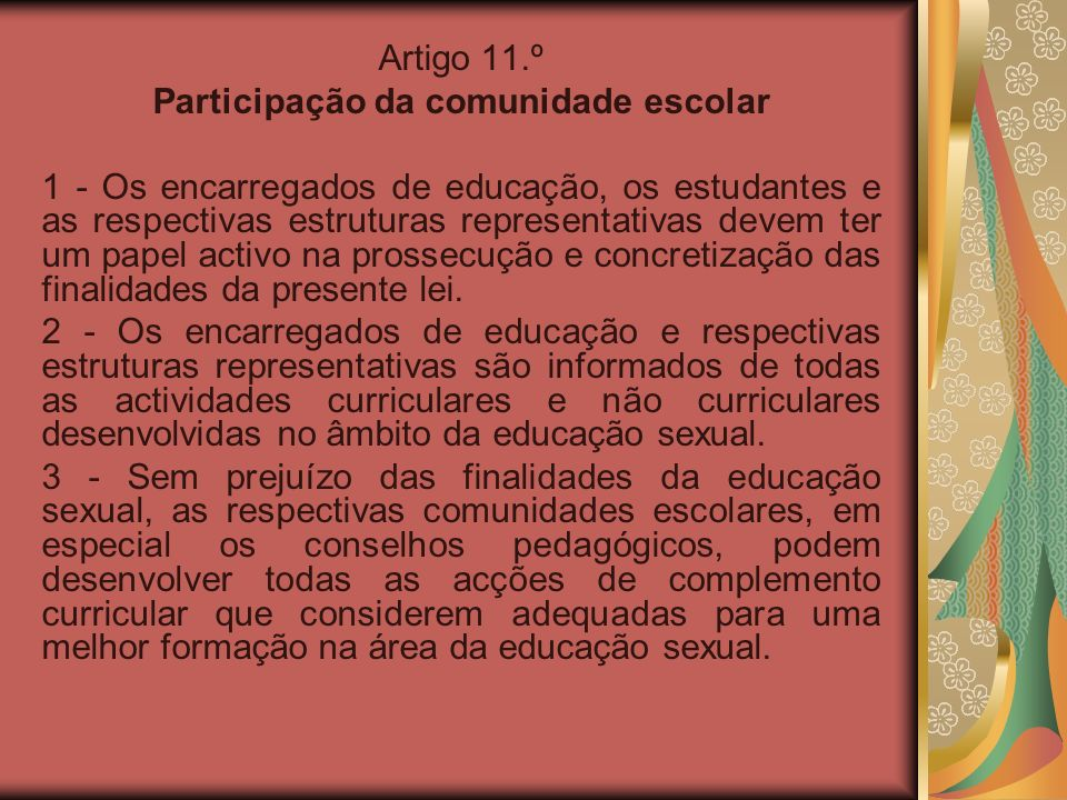 Participação da comunidade escolar