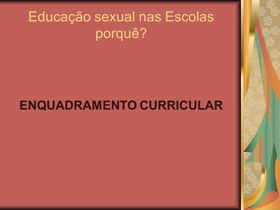 Educação sexual nas Escolas porquê