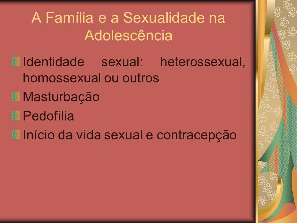 A Família e a Sexualidade na Adolescência