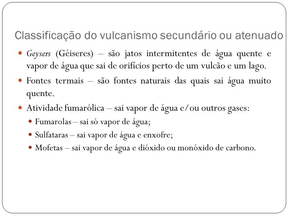 Classificação do vulcanismo secundário ou atenuado