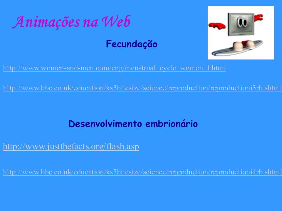 Animações na Web Fecundação Desenvolvimento embrionário