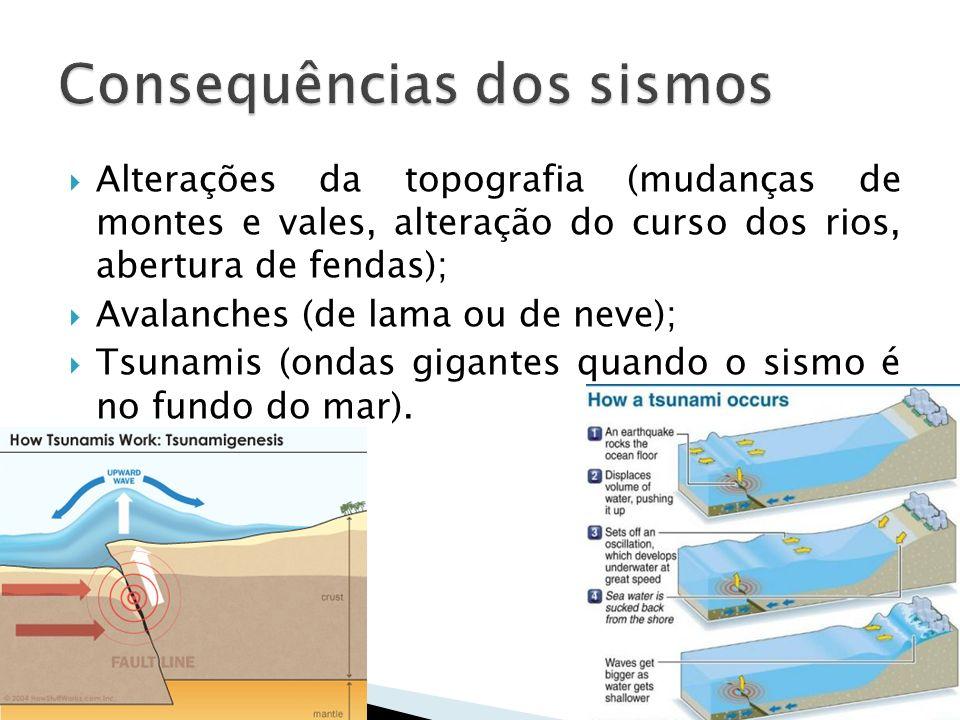 Consequências dos sismos