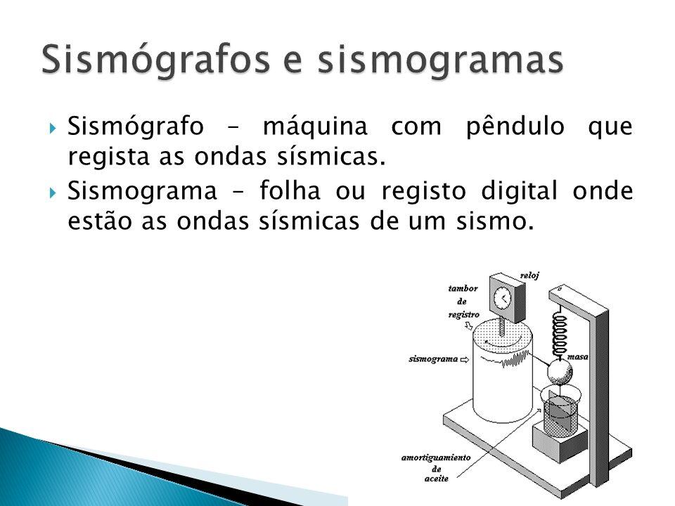 Sismógrafos e sismogramas