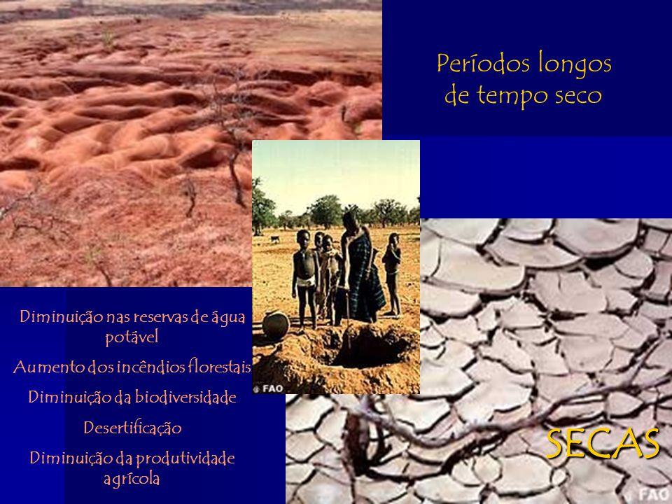 SECAS Períodos longos de tempo seco