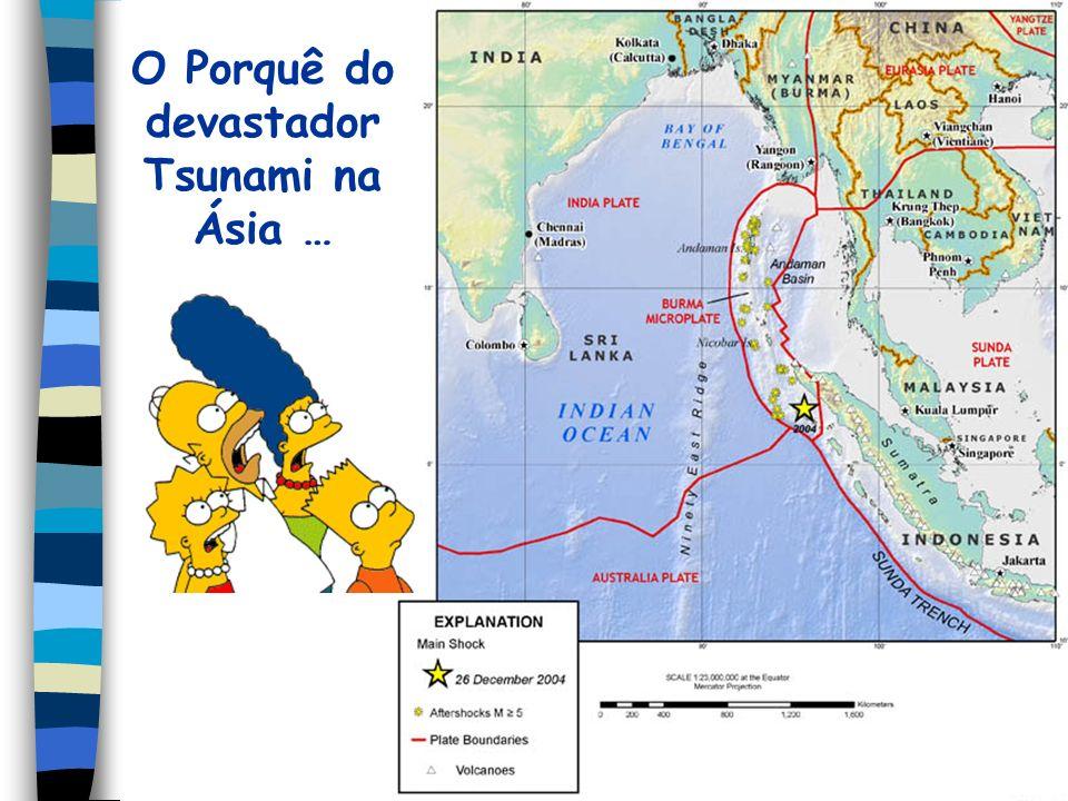 O Porquê do devastador Tsunami na Ásia …