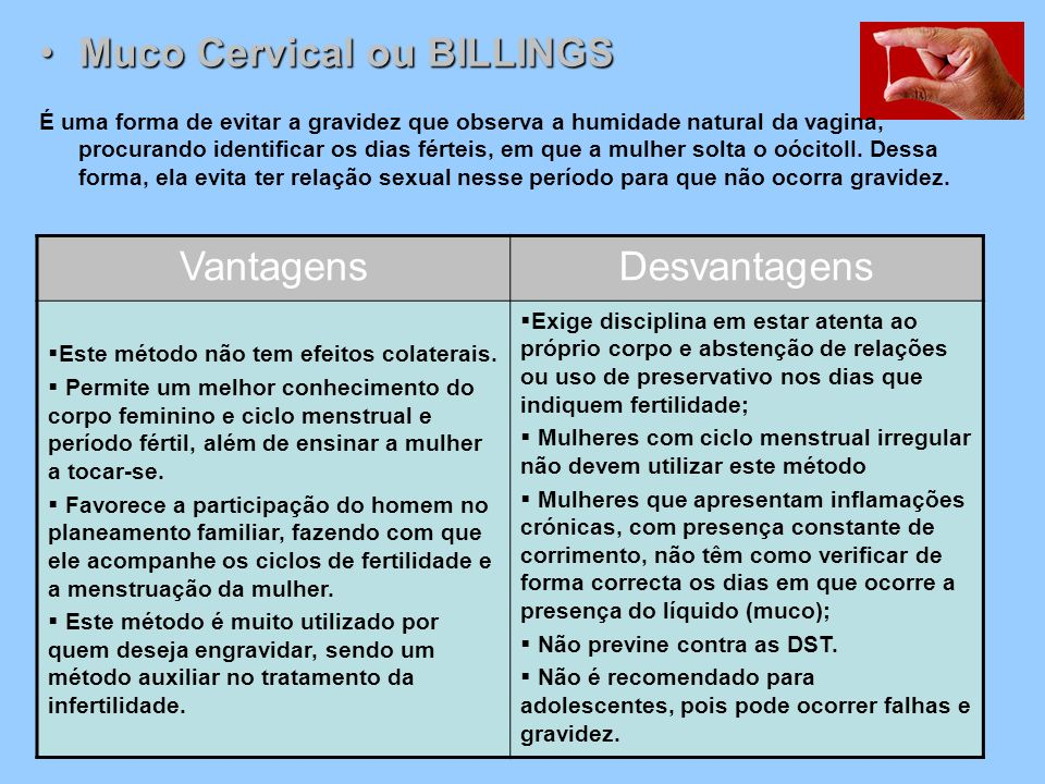 Muco Cervical ou BILLINGS