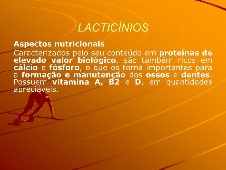 LACTICÍNIOS Aspectos nutricionais