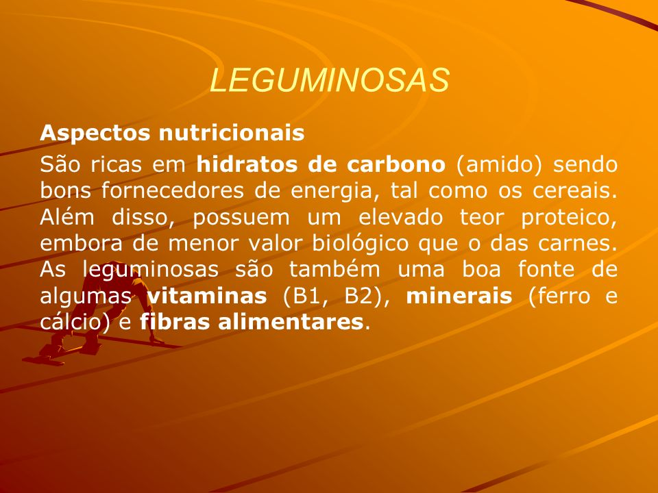 LEGUMINOSAS Aspectos nutricionais
