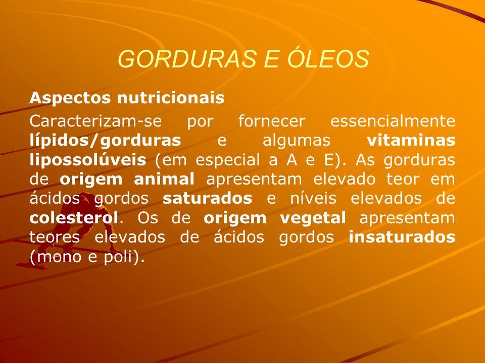 GORDURAS E ÓLEOS Aspectos nutricionais