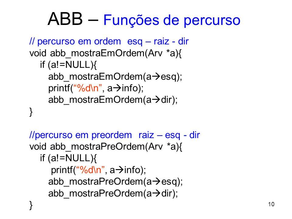 ABB – Funções de percurso